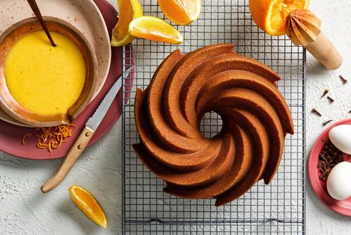 Turmeric glazed bundt cake