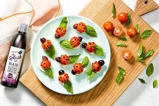 Ladybird tomato bites
