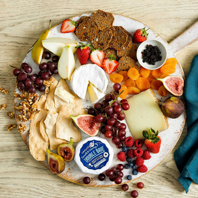 Entertaining cheese board platter