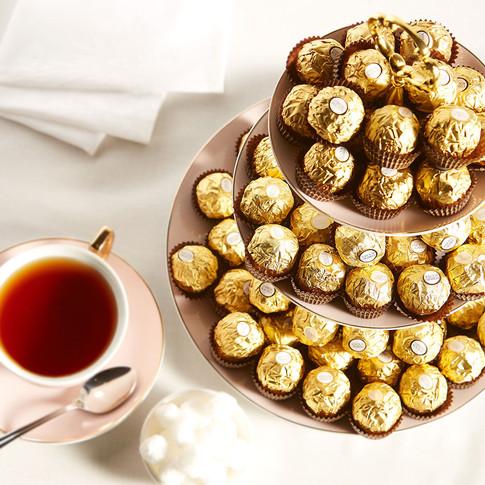 Fererro Roche and tea