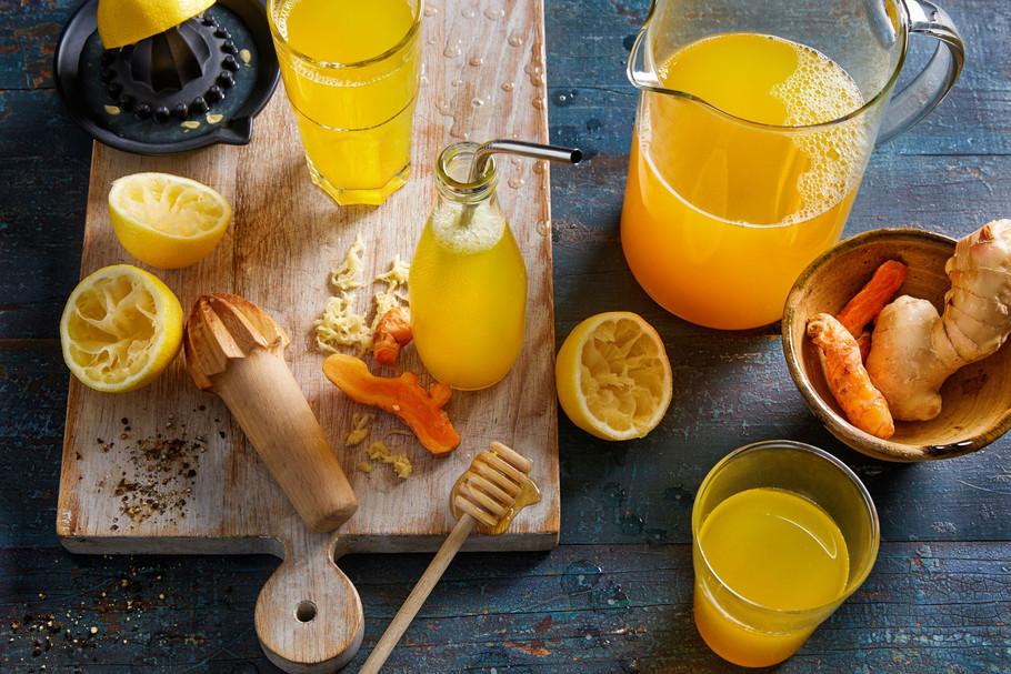 Turmeric and ginger lemonade