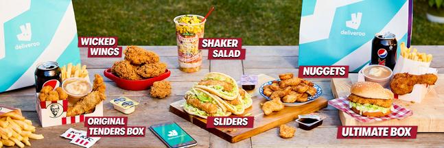 Deliveroo KFC menu selection