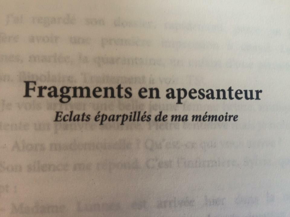 Fragments en apesanteur