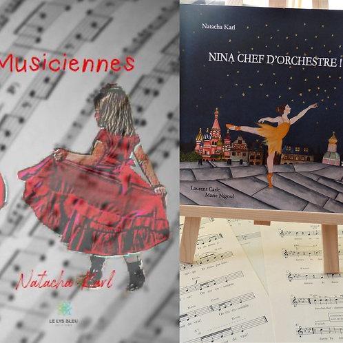Musiciennes et Nina chef d'orchestre - lot