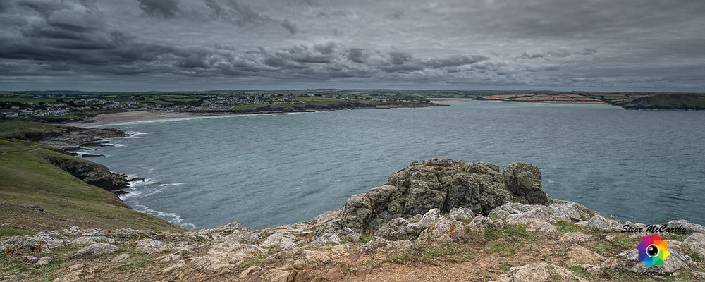 View of Polzeath and the Camel Estuary from Pentire Point