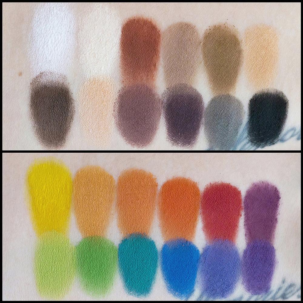 Illamasqua palette swatches