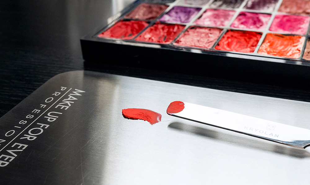 Stainless steel palette and lipstick