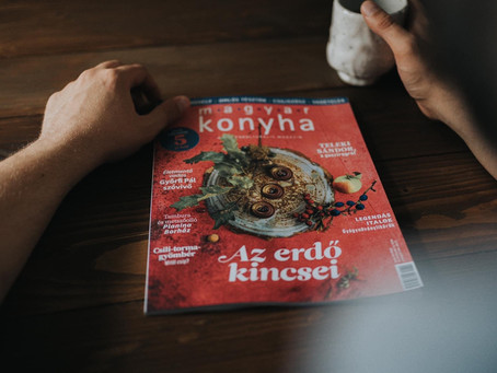 Interview at Magyar konyha magazine