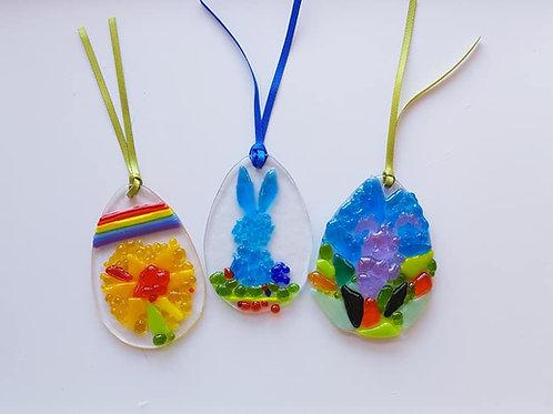 Takeaway Fused Glass Easter Eggs