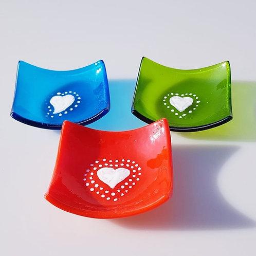 Small heart tealight/ring dish