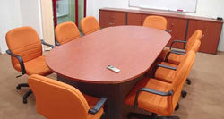 8'L Oval Shape Meeting Table
