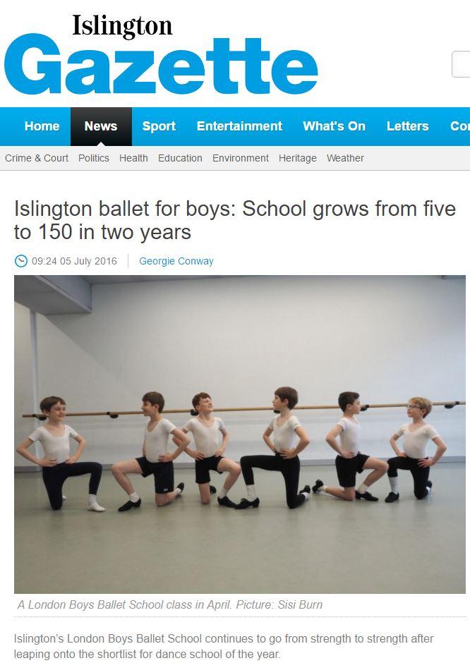 150 ballet boys