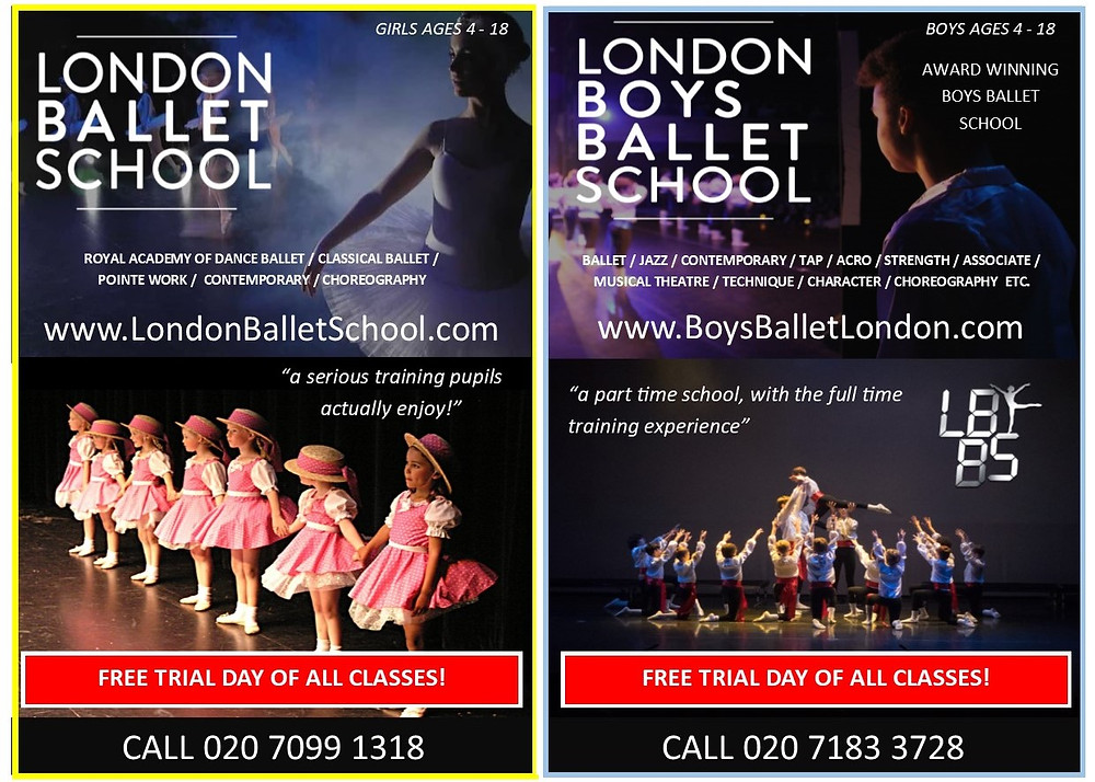 london ballet school and london boys ballet school
