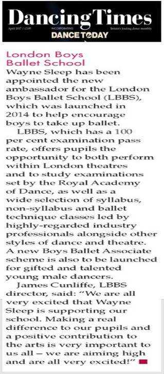 Thank you to the Dancing Times!