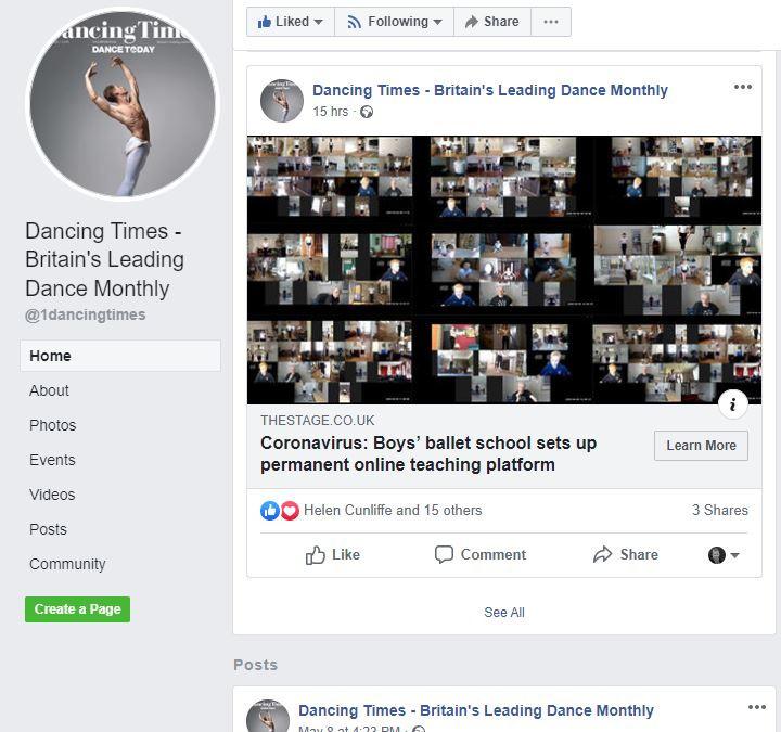 Dancing Times Boys Ballet Online