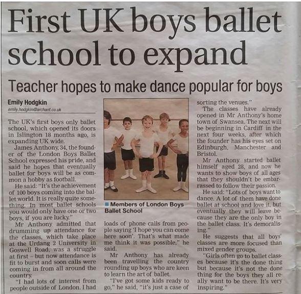 UK Boys Ballet School Expands