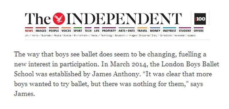 independant news ballet for boys