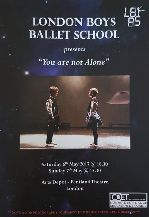 boys ballet theatre programme