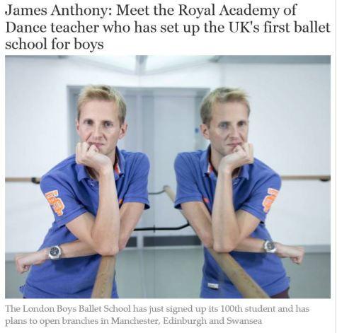 Ballet Teacher James Cunliffe