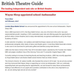 British Theatre Guide - wayne sleep