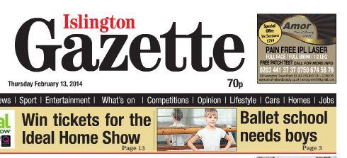 Islington Gazette - Boys Ballet Scho
