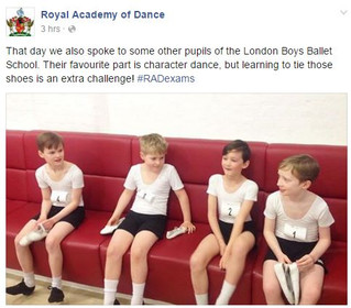 LBBS pupils at the Royal Academy of Dance HQ.