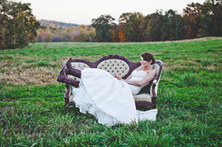Bridal Portrait with Antique Sofa