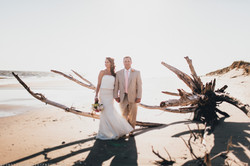 Bride and Groom in Bald Head Island