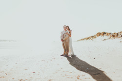 Bride and Groom Sun Photo