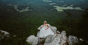 """Goddess on a Mountain Top""| Kodia Bridal Session| Pilot Mountain State Park| Pilot Mountain, NC"