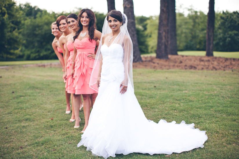 Creative Bride and Girls Photo