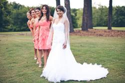 Creative Bride and Girls Photo