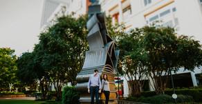 Trip and Nikki| Urban Bloom Engagement Session| Downtown Charlotte| Charlotte, North Carolina| Charl