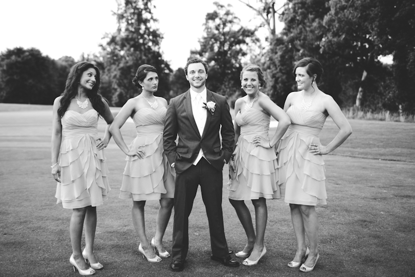 Groom with Bridesmaids Creative