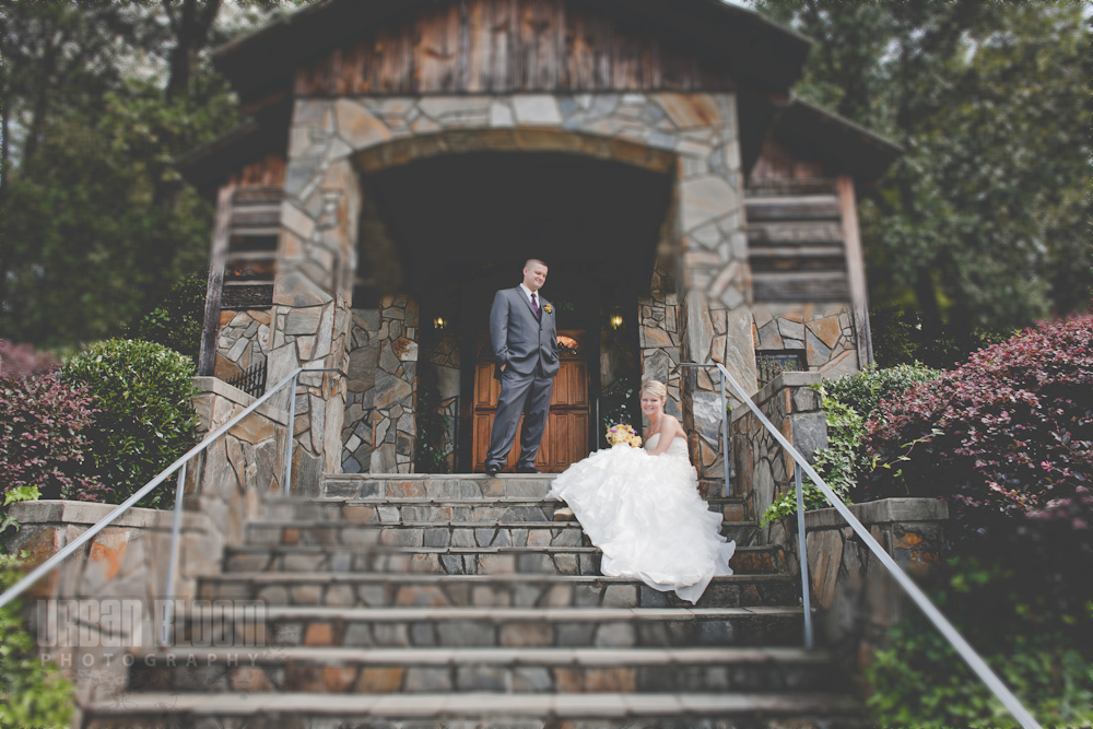 Bride and Groom at The Depot