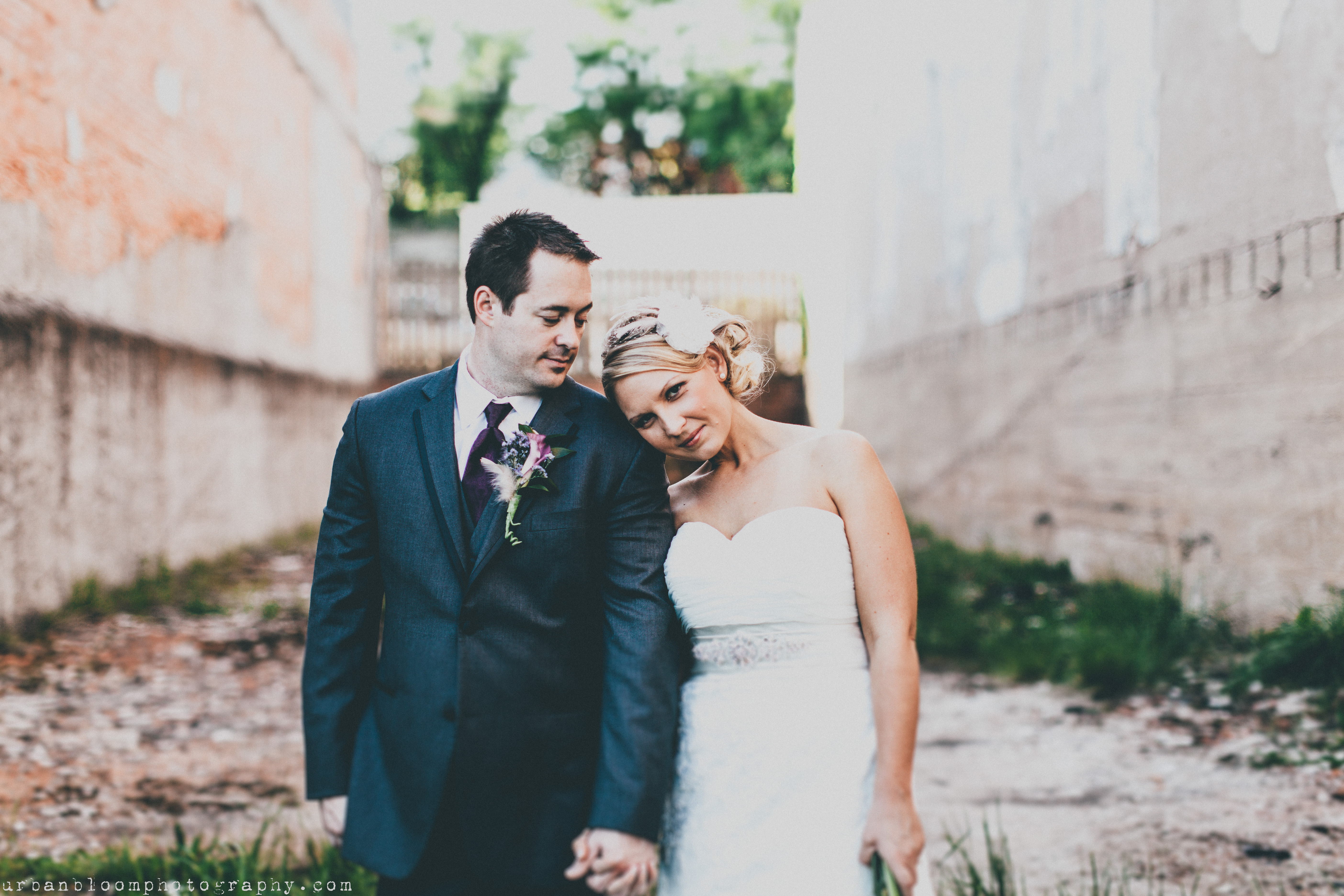 Bride and Groom in North Carolina