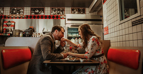 Alicia and Davis| Waffle House Engagement Session| Boone, North Carolina