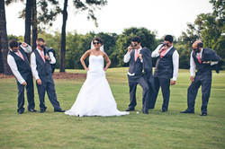 Bride and Groomsmen Creative Photo
