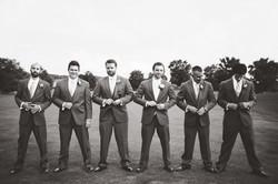 Groomsmen on Golfcourse