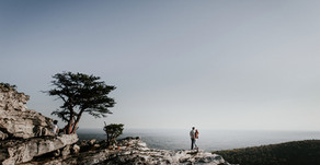 Jake and Eme Engagement Session| Urban Bloom Photography| Hanging Rock State Park| Danbury, North Ca