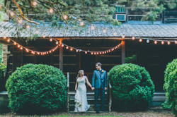 Bride and Groom Portraits Cabin