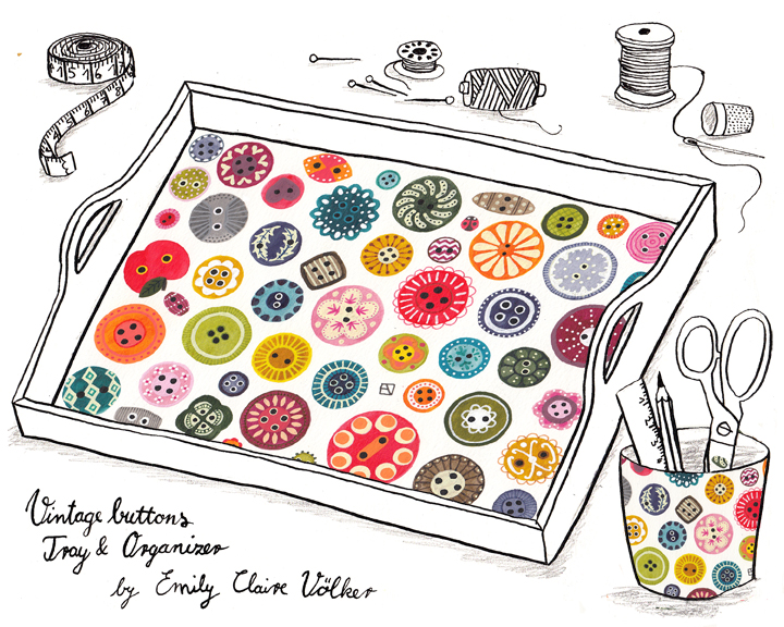 Vintage Button Pattern