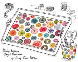 Vintage Button Pattern