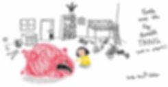 children's books, books, illustration, literature, children, anger, temper tantrum, tantrum, monster, child