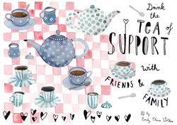 Drink the tea of support!