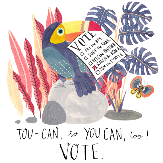 Toucan -so you can, too. Vote!