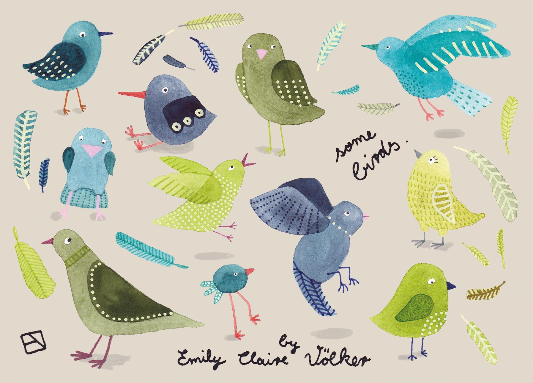 some birds.