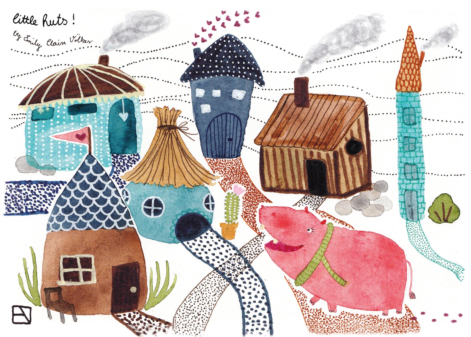 Henrietta discovers a village!