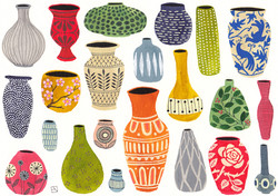 A collection of vases