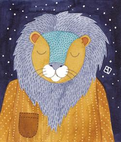 Sombre Night Lion